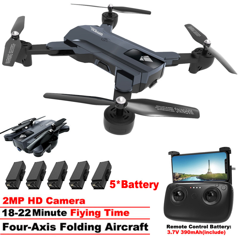 <font><b>F196</b></font> Mini Foldable Drone with 2.0MP HD Camera Rc Helicopter Optical Flow Localization RC Quadcopter Children toys vs SG900 image