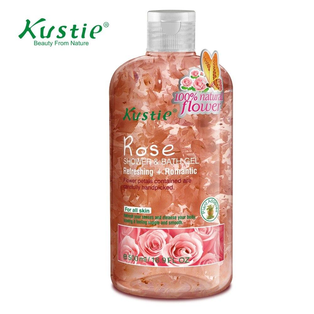 Kustie Body Care Body Wash Nature Floral Petals Rose Shower & Bath Gel 220ml  недорого