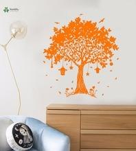 YOYOYU Vinyl Wall Decal Beautiful Dream Magic Tree Hanging Lanterns Fairy Tale Kids Room Home Decoration Stickers FD214