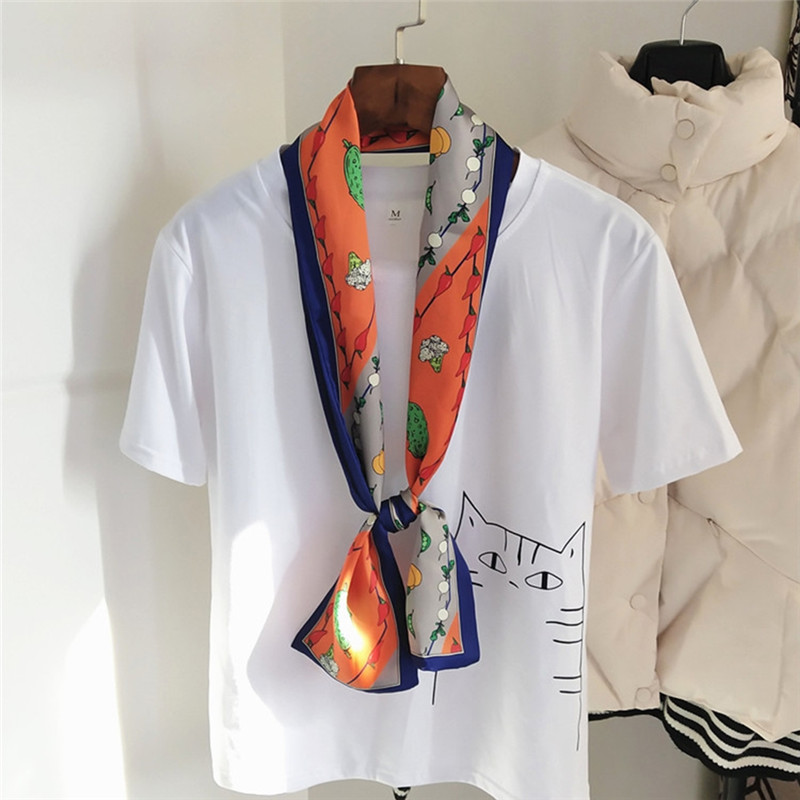 Imixlot High quality Elegant Bohemia Women Long Print Imitation Silk   Scarf     Wrap   Ladies Shawl Large   Scarves   for Spring Summer