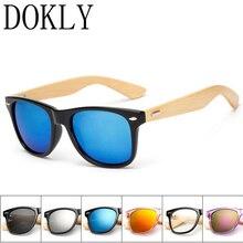 Dokly brand sunglasses Bamboo frame Sunglasses