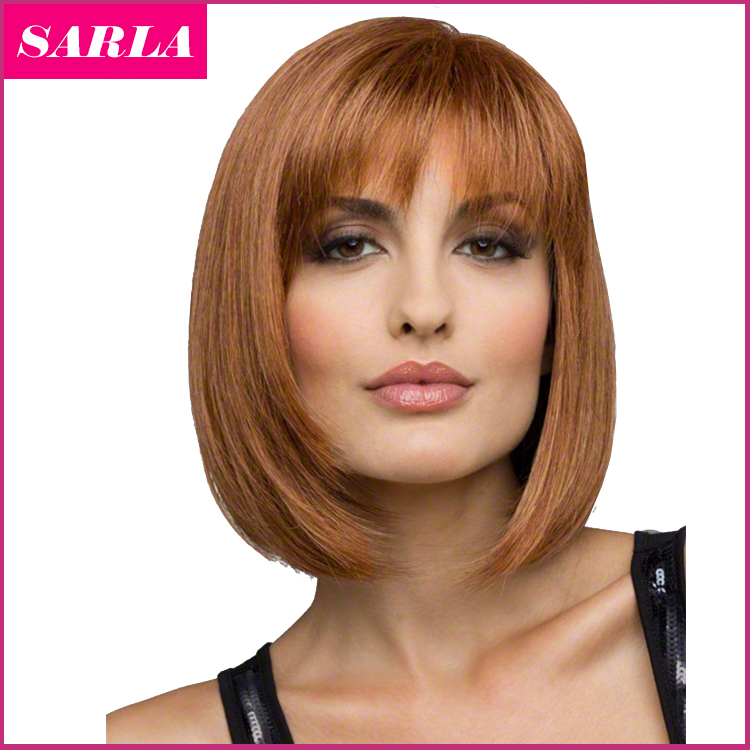 1PC Women Short Blonde Bobo Wigs European Straight Synthetic  Hair Wig Heat Resistant Natural U Part Wig Free Shipping full heat resistant synthetic short straight brown synthetic pixie cut hairstyle for women wig free shipping