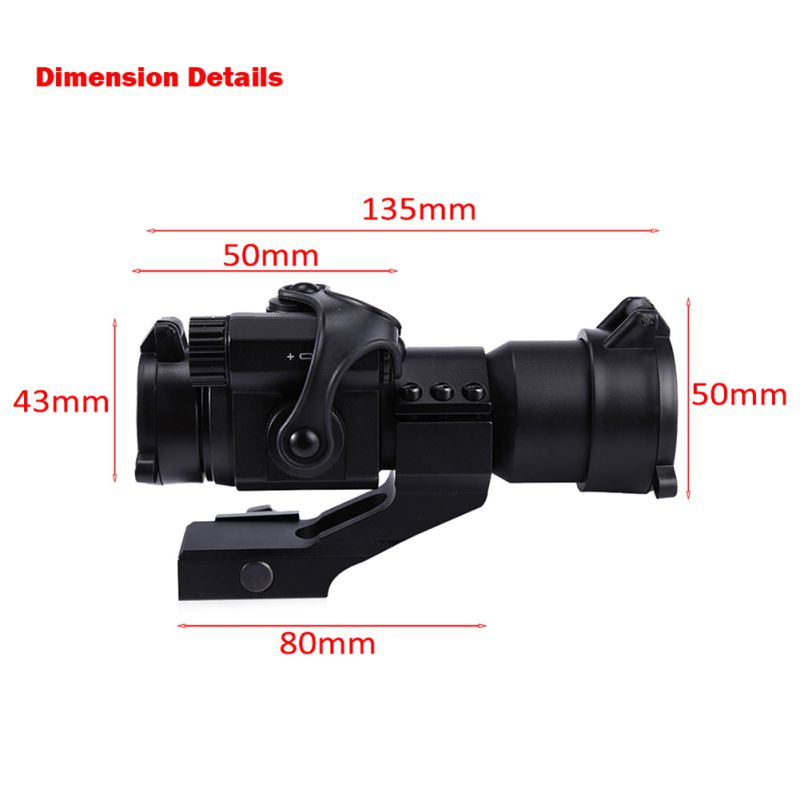 Image 4 - 1X30 Red&Green Dot Optics M2 Holographic Sight RiflescopeAiming Scope Collimating Rifle Scope Hunting Accessory-in Riflescopes from Sports & Entertainment