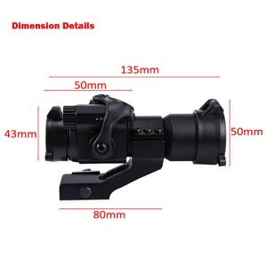 Image 4 - 1X30 Red&Green Dot Optics M2 Holographic Sight RiflescopeAiming Scope Collimating Rifle Scope Hunting Accessory