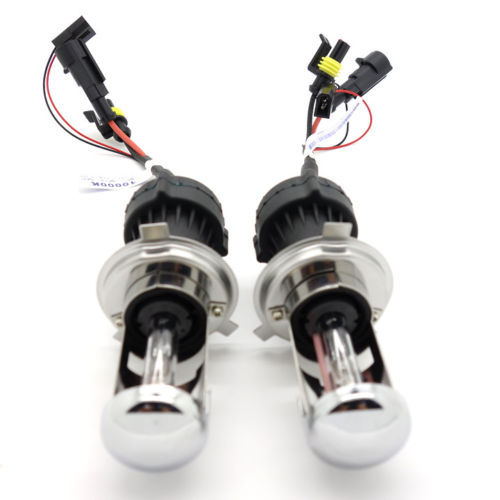 iPobooTech 2pcs CE Certified Car HID Xenon Headlight 35W H4-3 10000K Hi/Lo AC Bulbs Lamp