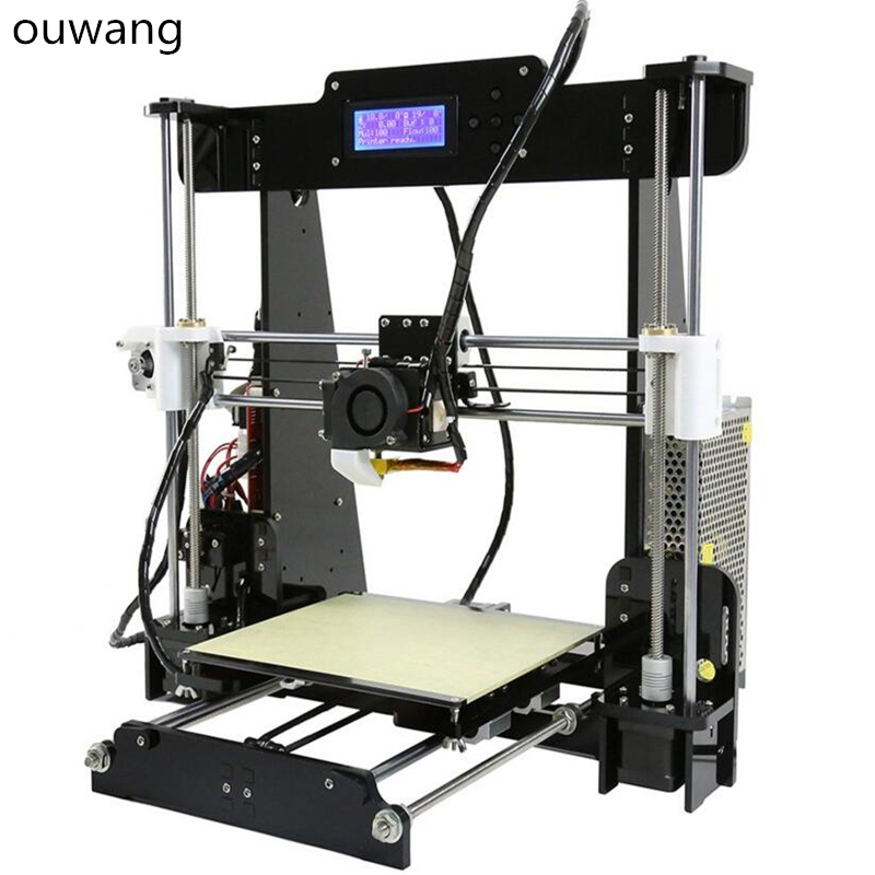 Wood Frame LCD Screen Included Filament CTC A8 3D Printer Prusa i3 DIY Kit