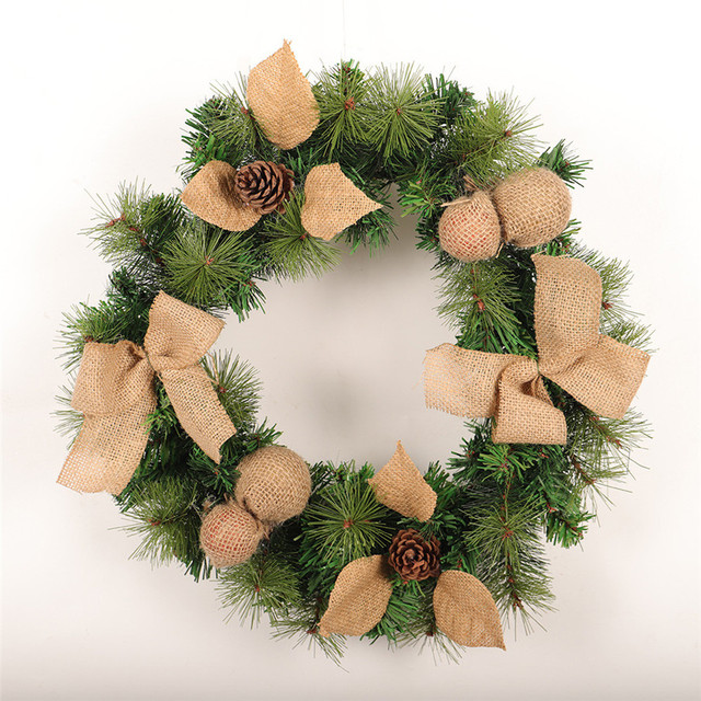 new large christmas wreath 1pc 17 fall welcomer cream welcome wreath for front door thanksgiving - Large Christmas Wreath
