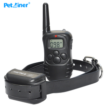 Водонепраницаемый и аккумуляторый 300 м диапазон пульт управляет электронный ошйник для дрессировки собаки с дисплеем