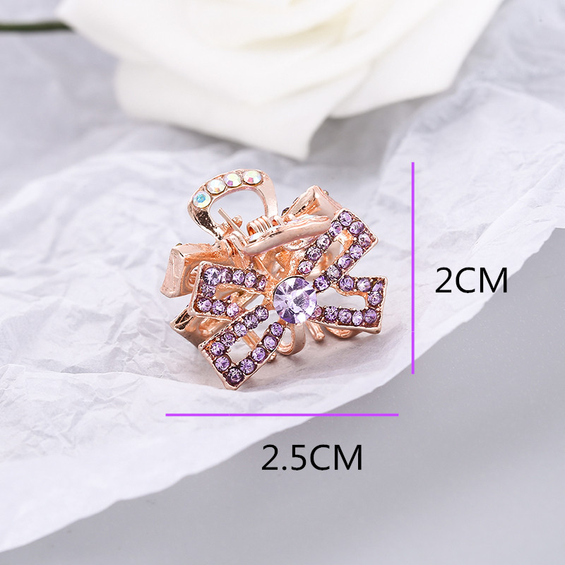 New Metal crystal bowknot Crab Claw Clip For Women Girls Charm Barrette Full Rhinestone Wedding Hair Accessories Jewelry Gift in Women 39 s Hair Accessories from Apparel Accessories