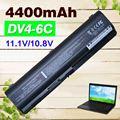 4400 mah batería del ordenador portátil para compaq presario cq50 cq60 cq61 cq70 cq71 CQ40 CQ45 CQ41 para Pavilion DV4 DV5 DV6 DV6-1000 G50 G61