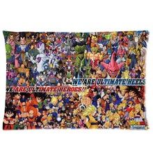Custom all characters dragon ball z goku Pillowcase Rectangle Pillow Cover Zippered Pillow Cases 20×30 inches For Kid Lover