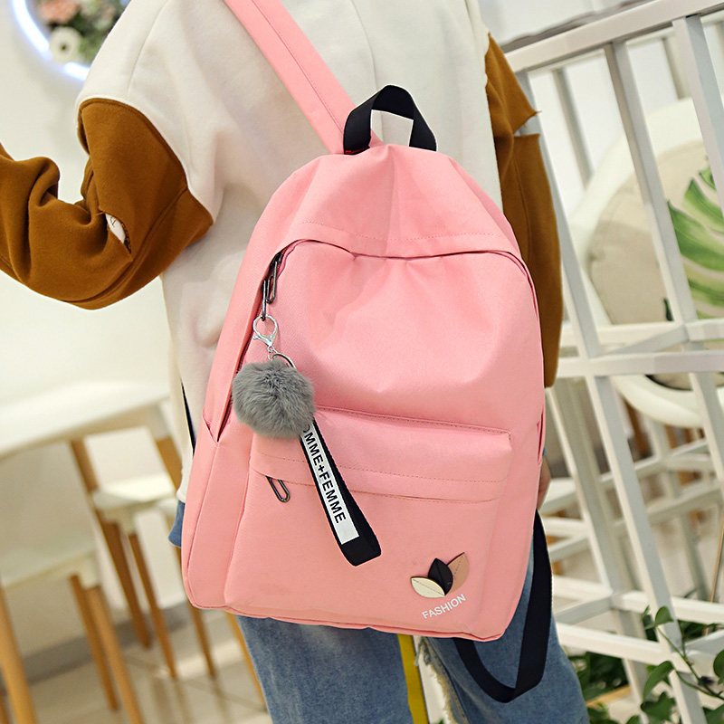 pink print letter School Backpack Women School bag Back Pack Leisure Korean Ladies Knapsack Laptop Travel Bags for Teenage Girls cartoon melanie martinez crybaby backpack for teenage girls school bags backpack women casual daypack ladies travel bags