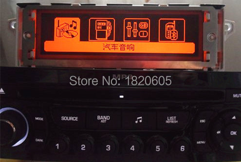 Brand New Car screen support USB Bluetooth 4 menu Display Red monitor 12 pin for Peugeot 307 407 408 for citroen C4 C5