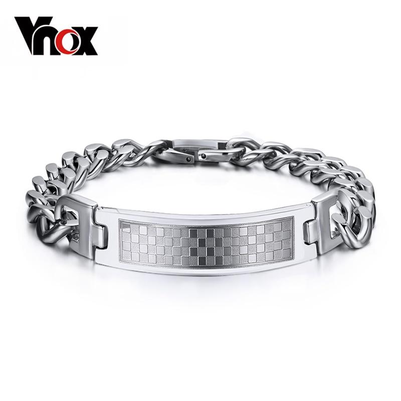 Name Brand Bracelets: Aliexpress.com : Buy Vnox 8.3 Inchs Classic Men's ID