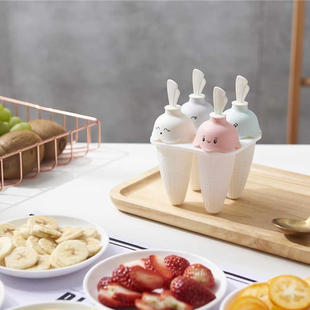 Jagung Kreatif Es Krim Cetakan Es Loli Alat Memasak Berbentuk Persegi Panjang Yang Dapat Digunakan Kembali DIY Beku Es Krim Pop Cetakan Kue W0425