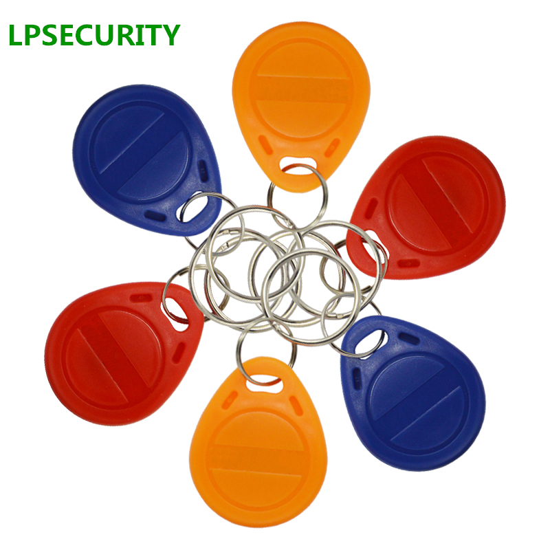 LPSECURITY 30pcs RFID mix Tokens 125Khz EM4100 chip Tags ID Card Key Chain Card for RFID reader keypad access control system