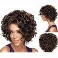 12 Inch Афроамериканца Парик Короткие вьющиеся Каштановые Волосы Парик Для Чернокожих Женщин темно-коричневый Короткие Женские Из Синтетических Волос парики
