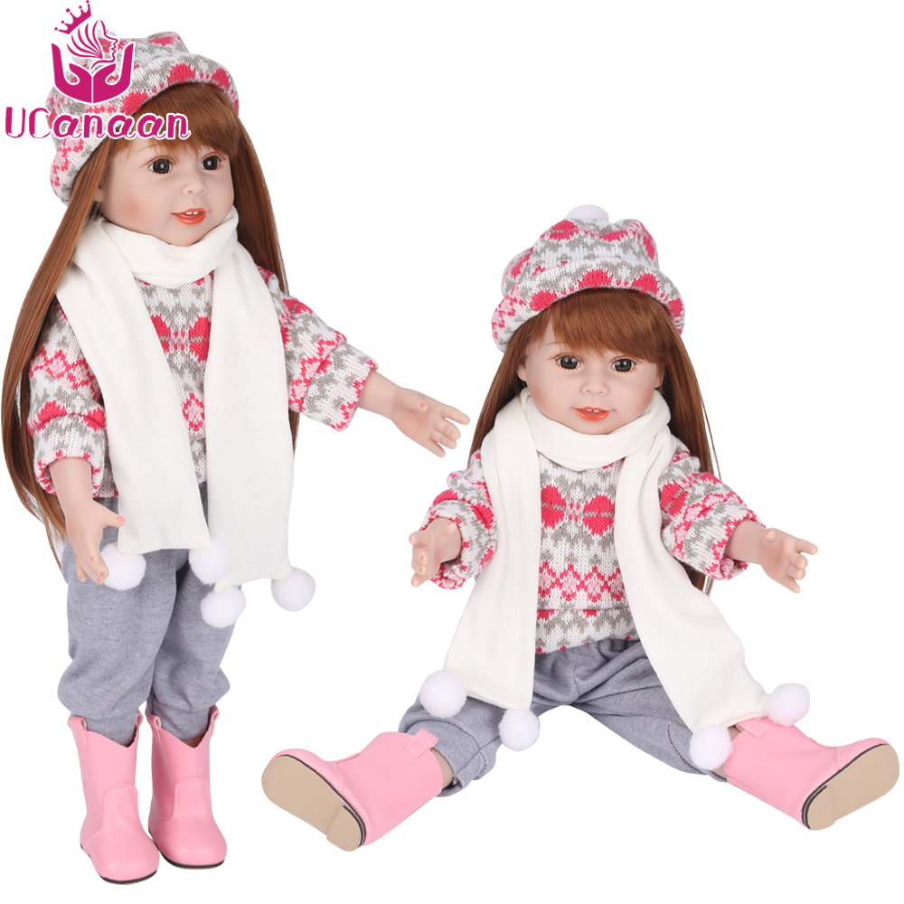 18inch 45cm Vinyl American Princess Girl Doll Silicone Reborn Baby Doll Beauty Full Vinyl Toys Girls Gift Bjd Free Shipping npk 18 45cm american sweet girl doll reborn baby dolls full handmade full vinyl baby toys best girls gift diy bjd dolls