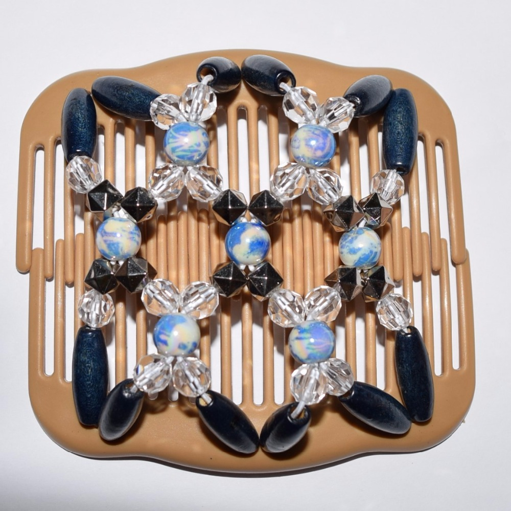 standard comb blue clear silver beads 20pcs/lot african butterfly magic comb