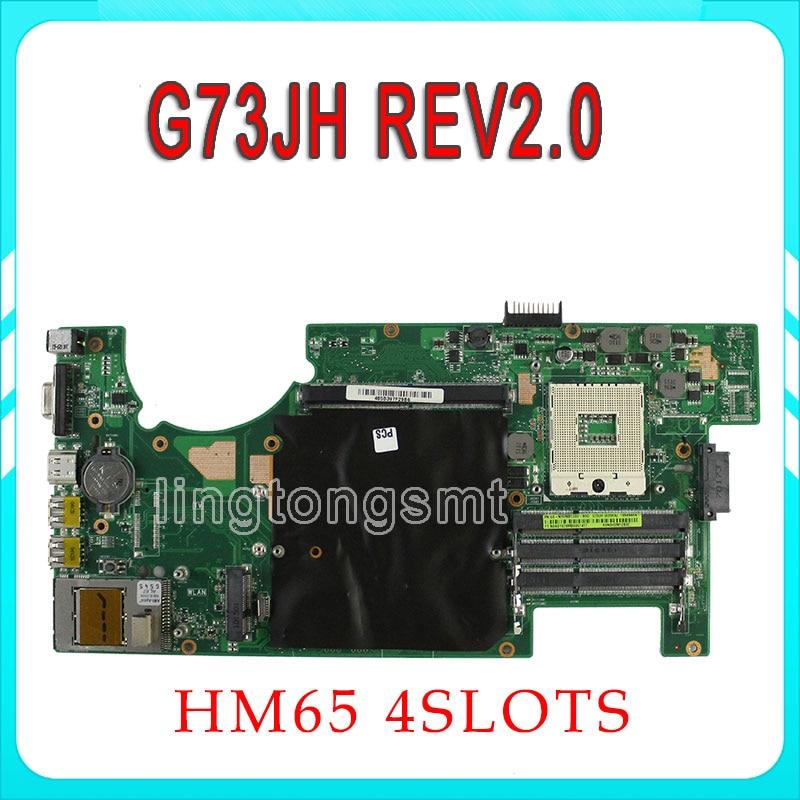 все цены на  For ASUS G73JH G73J G73 Motherboard 60-NY8MB1200 Main Board REV:2.0 HM55 4 slots PGA989 tested OK  онлайн