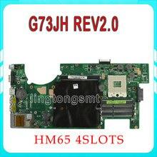 Для ASUS G73JH G73J G73 материнской 60-NY8MB1200 основной плате REV: 2.0 HM55 4 слота PGA989 протестировал OK