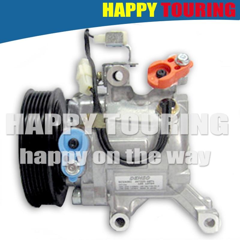 Car Ac Compressor >> Us 88 11 11 Off Brand New Sv07c Car Ac Compressor For Toyota Rush Daihatsu Terios 447190 6121 4472600667 4471602270 4472605820 447190 6121 6pk In