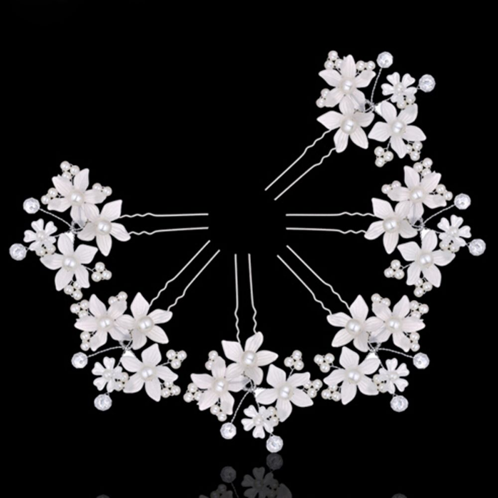 fashion women silver wedding pearls hairpins crystal vine bridal head wear hair accessories diamond headpiece Fashion Women Lady Beautiful Hairpins Crystal For Wedding Simulator Mode Pearl Hair Cilp Hair Band Accessories