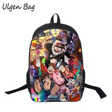 Children Anime Mabel Gravity Falls Backpack Boys Girls Cartoon Adventure Time Backpacks Plants vs Zombies School Bags for kids