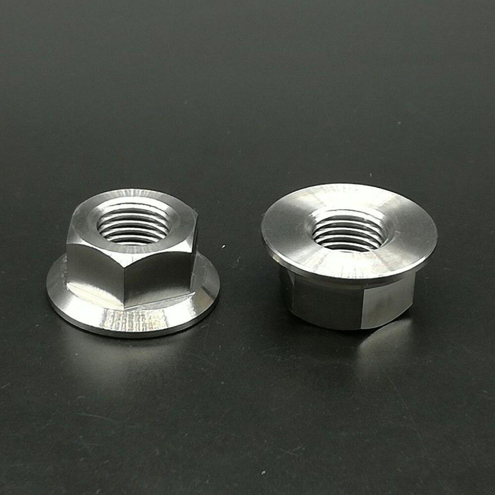 2pcs Titanium Ti M14x1.5 Pitch Sprocket Flange Without Lock Nut Gr.5 6Al//4V