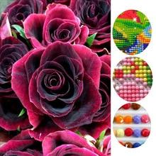 FULL Round Diamond 3D Flowers image canvas DIY  painting cross stitch mosaic pattern decor diamond embroidery