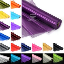 1 Roll 25Meters x 29cm Sheer Organza Roll Wedding party Decoration Chair Bow Sash Table Runner Swag