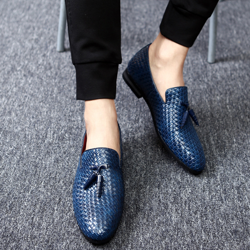 Men Shoes Luxury Brand Weave Leather Casual Driving Oxfords Shoes Men Loafers Moccasins Rome Shoes For Men 2018 Autumn FlatsMen Shoes Luxury Brand Weave Leather Casual Driving Oxfords Shoes Men Loafers Moccasins Rome Shoes For Men 2018 Autumn Flats
