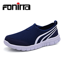 FONIRRA 2017 New Men Causual Shoes Mesh Super Light Summer Loafers for Man Slip-on Breathable Flats Shoes 156