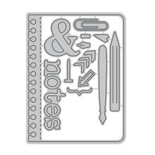 DiyArts Letter Note Pen Pencil Metal Cutting Dies New 2019 for Craft Scrapbooking Album Embossing Die Cut Decoration