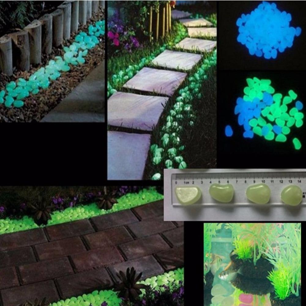100 Glow Dark Pebbles Stones Más Reciente Decorativo Grava Fantástico  Jardín Patio Para Pasarela Jardín Decoración