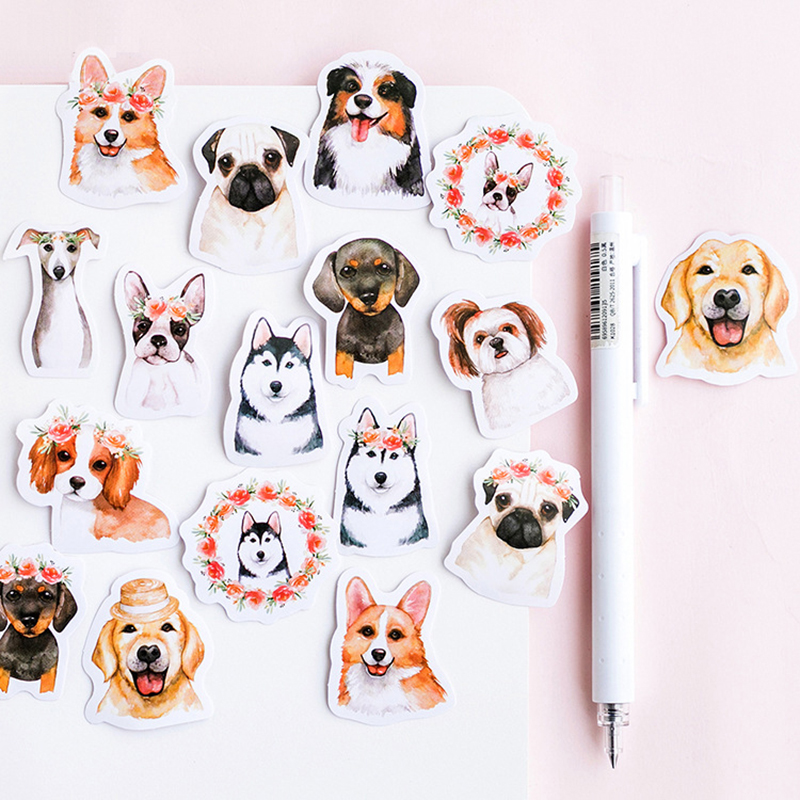 46 Pcs/lot Cute Dog Animal Sticker Decoration DIY Scrapbooking Sticker Stationery Kawaii Diary Label Sticker