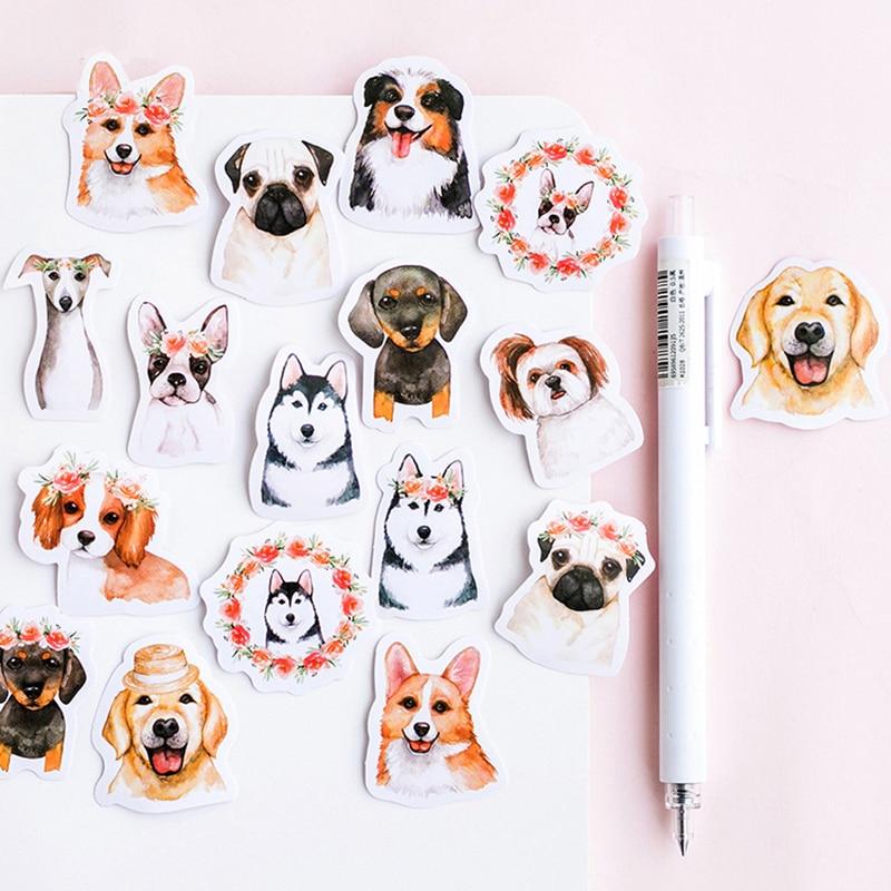 46-pcs-lot-cute-dog-animal-sticker-decoration-diy-scrapbooking-sticker-stationery-kawaii-diary-label-sticker
