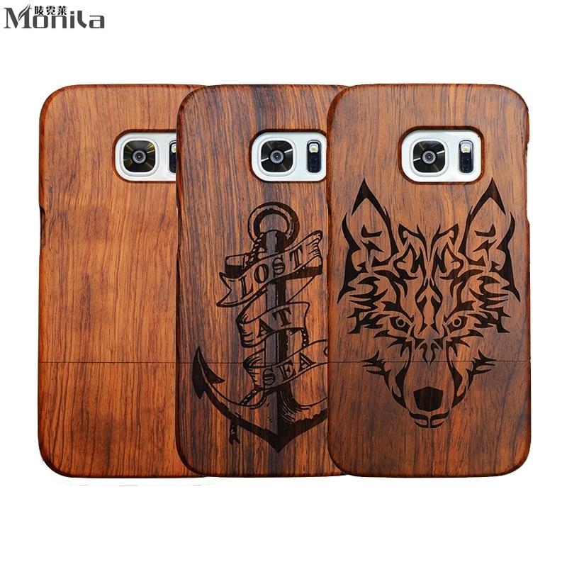 imágenes para Monila Retro Hecho A Mano de Talla de Bambú Cubierta de Madera Real Para Samsung Galaxy S5 Borde Más S7 S6 S6 Nota 3 Nota 4 Nota 5 Madera caso