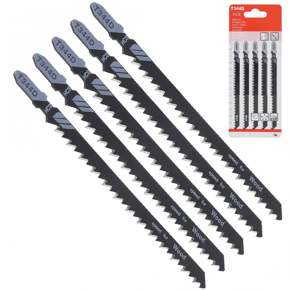 5pcs/lot T344D 130mm High Carbon Steel Jig Saw Set Fast-Cutting Reciprocating Jigsaw Blade For Wood Board Plastic Cutting