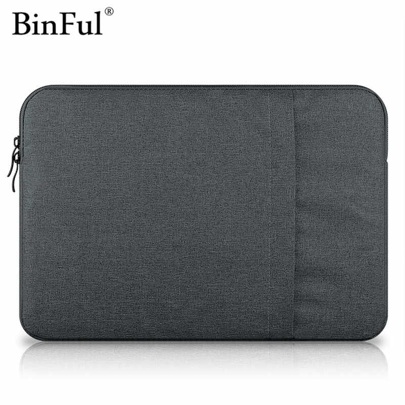 Funda de ordenador portátil Binful para 2016 Apple Macbook Pro 13 15 A1707 A1708 funda de Nylon para ordenador portátil bolsa para Mac book Air 11 13,3