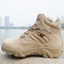 Летние Военное Дело Армейские ботинки Для мужчин высокое качество круглый носок Desert Combat Ботильоны осень Для мужчин S Кожа Армии Обувь