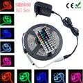 4 M 5 M 8 M 5050 RGB led strip fita de 10 M fita led RGB diodo de alimentação tiras lampada ac dc 12 V levou luz + IR controlador rgb completo conjunto