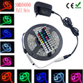 4M 5M 8M 5050 RGB led strip  fita de 10M led RGB tape diode feed tiras lampada ac dc 12V led light+ IR rgb controller full set