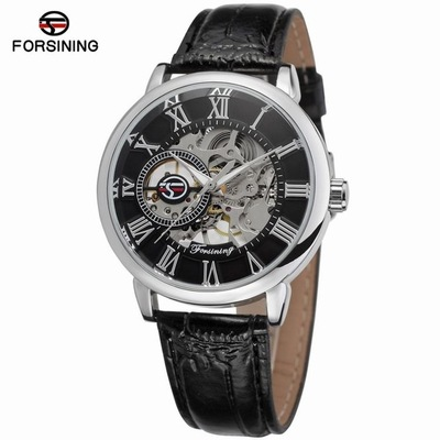 Forsining 3d Logo Design Hollow Engraving Black Gold Case Leather Skeleton Mechanical Watches Men Luxury Brand Heren HorlogeForsining 3d Logo Design Hollow Engraving Black Gold Case Leather Skeleton Mechanical Watches Men Luxury Brand Heren Horloge