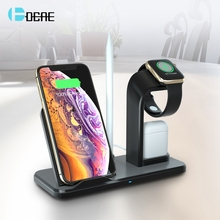 DCAE 10W Qi Wireless Charger 4 in 1 Charging Holder Stand For Apple Watch 4 3 2 iPhone XS MAX XR 8 X iWatch Airpods Dock Station цена