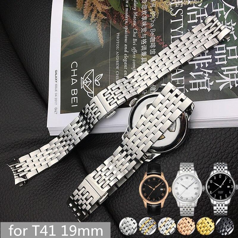 Bracelet En Acier inoxydable pour Tissot 1853 T-CLASSIC LE LOCLE AUTOMATIQUE Montre T41 Homme Bracelet Bracelets T41.1 12mm/19mm + Outils