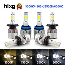 Hlxg 2Pcs 12V 3000K 4300K 6500K 8000K H7 H11 H1 H3 H4 Led Car Headlight 8000LM/Set 36W Auto H8 H9 9005 HB3 9006 24v Led(China)
