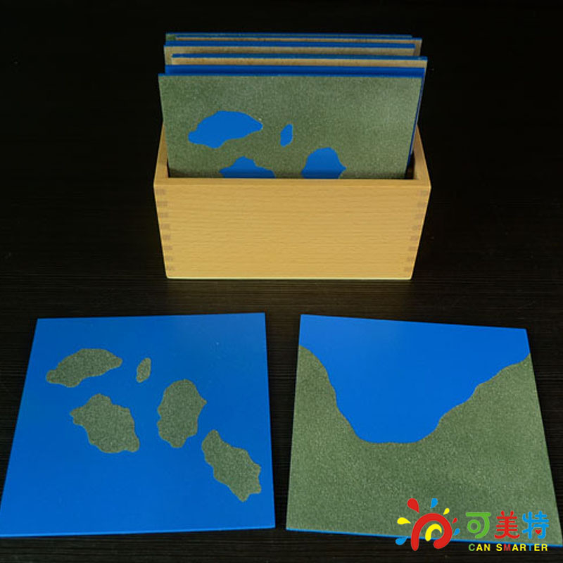 Montessori Education Topographic Map Puzzles  Beech Wood  Science toys Early educational toys Can Smarter Free Shipping cd yes topographic dramalive across america
