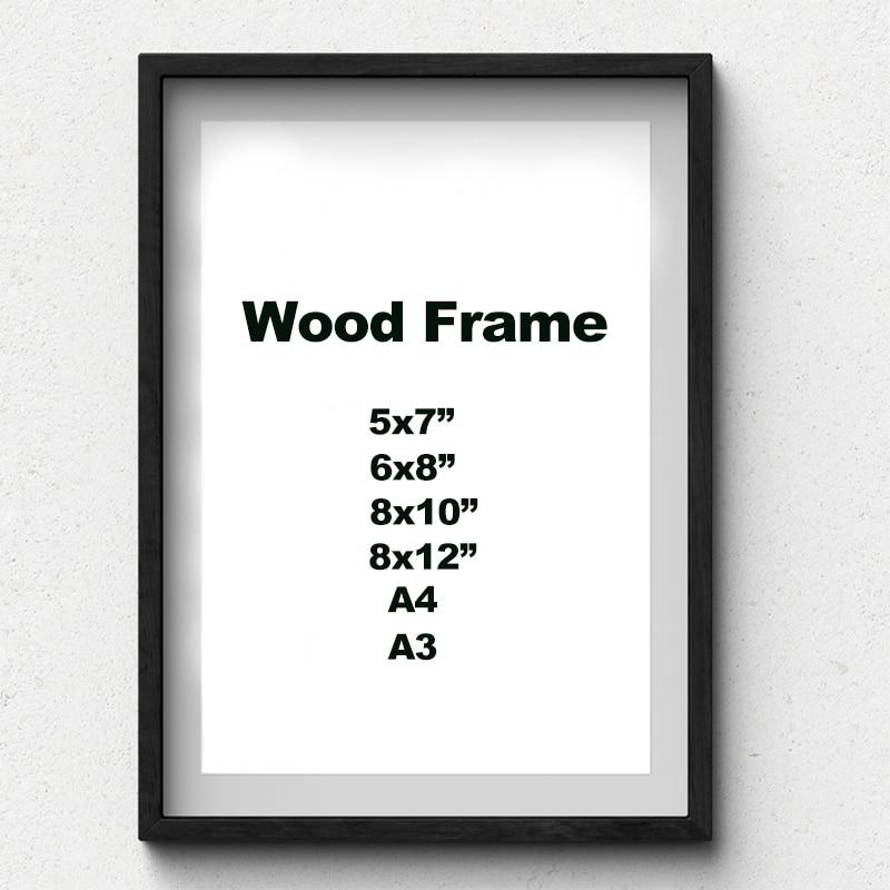 РАМКА А4/А3 деревянная однотонная с матрасом, черного/белого цвета