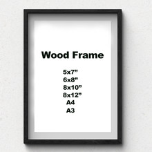 Nature Solid Simple Wooden Frame A4 A3 Black White Wood Color Picture Photo Frame with Mats for Wall Mounting Hardware Included(China)